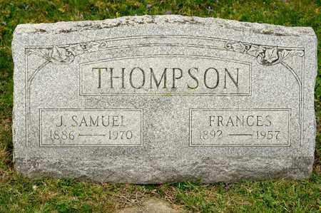 THOMPSON, J SAMUEL - Richland County, Ohio | J SAMUEL THOMPSON - Ohio Gravestone Photos