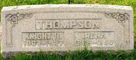 THOMPSON, KNIGHT H - Richland County, Ohio   KNIGHT H THOMPSON - Ohio Gravestone Photos