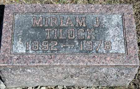 TILOCK, MIRIAM J - Richland County, Ohio | MIRIAM J TILOCK - Ohio Gravestone Photos