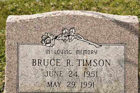 TIMSON, BRUCE R - Richland County, Ohio | BRUCE R TIMSON - Ohio Gravestone Photos