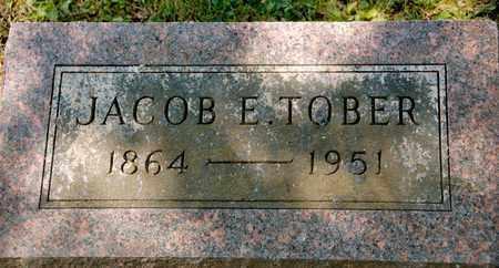 TOBER, JACOB E - Richland County, Ohio | JACOB E TOBER - Ohio Gravestone Photos