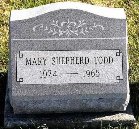 TODD, MARY - Richland County, Ohio | MARY TODD - Ohio Gravestone Photos