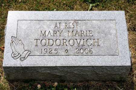 TODOROVICH, MARY MARIE - Richland County, Ohio | MARY MARIE TODOROVICH - Ohio Gravestone Photos