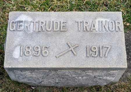TRAINOR, GERTRUDE - Richland County, Ohio | GERTRUDE TRAINOR - Ohio Gravestone Photos