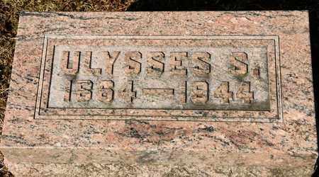 TRIMBLE, ULYSSES S - Richland County, Ohio   ULYSSES S TRIMBLE - Ohio Gravestone Photos