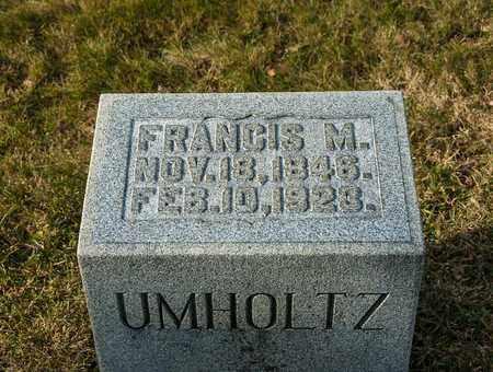UMHOLTZ, FRANCIS M - Richland County, Ohio | FRANCIS M UMHOLTZ - Ohio Gravestone Photos