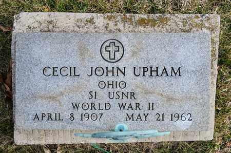 UPHAM, CECIL JOHN - Richland County, Ohio   CECIL JOHN UPHAM - Ohio Gravestone Photos