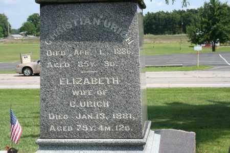 URICH, CHRISTIAN - Richland County, Ohio | CHRISTIAN URICH - Ohio Gravestone Photos