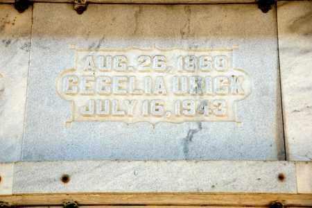 URICK, CECELIA - Richland County, Ohio   CECELIA URICK - Ohio Gravestone Photos