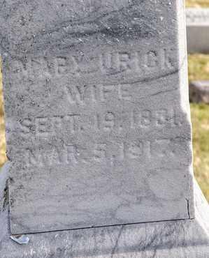 URICK, MARY - Richland County, Ohio | MARY URICK - Ohio Gravestone Photos