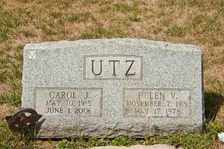 UTZ, HELEN V - Richland County, Ohio | HELEN V UTZ - Ohio Gravestone Photos