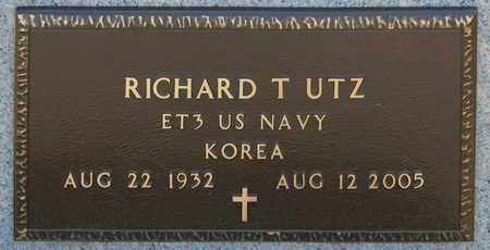 UTZ, RICHARD T - Richland County, Ohio | RICHARD T UTZ - Ohio Gravestone Photos