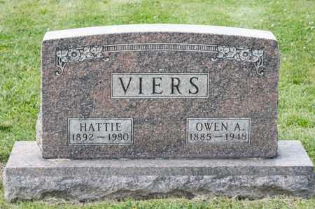 VIERS, HATTIE - Richland County, Ohio   HATTIE VIERS - Ohio Gravestone Photos