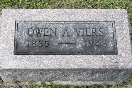 VIERS, OWEN A - Richland County, Ohio | OWEN A VIERS - Ohio Gravestone Photos
