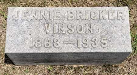 VINSON, JENNIE - Richland County, Ohio | JENNIE VINSON - Ohio Gravestone Photos