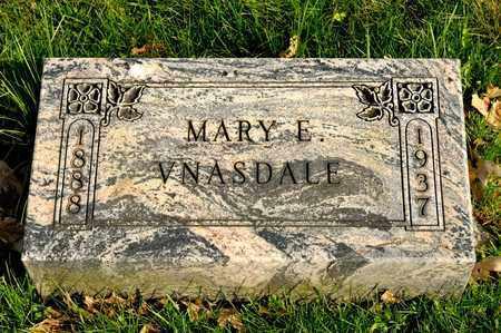 VNASDALE, MARY E - Richland County, Ohio   MARY E VNASDALE - Ohio Gravestone Photos