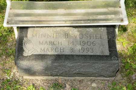 VOSHEL, MINNIE B - Richland County, Ohio   MINNIE B VOSHEL - Ohio Gravestone Photos
