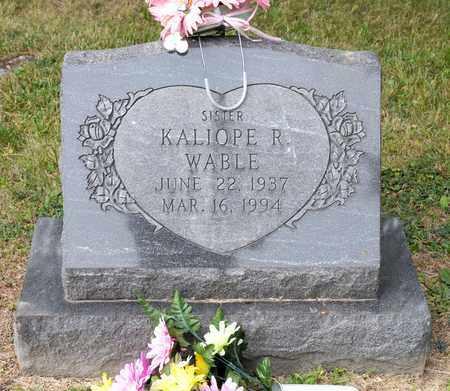WABLE, KALIOPE R - Richland County, Ohio | KALIOPE R WABLE - Ohio Gravestone Photos