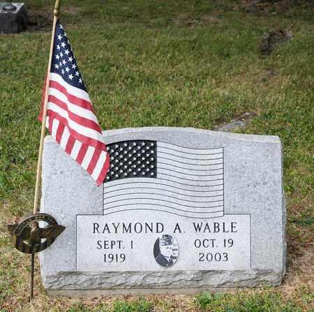WABLE, RAYMOND A - Richland County, Ohio | RAYMOND A WABLE - Ohio Gravestone Photos