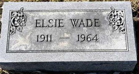 WADE, ELSIE - Richland County, Ohio   ELSIE WADE - Ohio Gravestone Photos