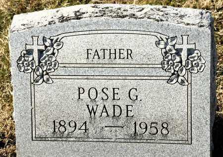 WADE, POSE G - Richland County, Ohio   POSE G WADE - Ohio Gravestone Photos