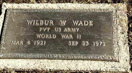 WADE, WILBUR W - Richland County, Ohio   WILBUR W WADE - Ohio Gravestone Photos