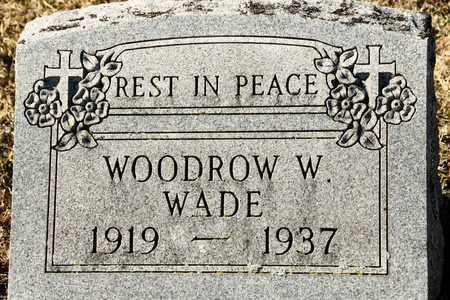 WADE, WOODROW W - Richland County, Ohio | WOODROW W WADE - Ohio Gravestone Photos