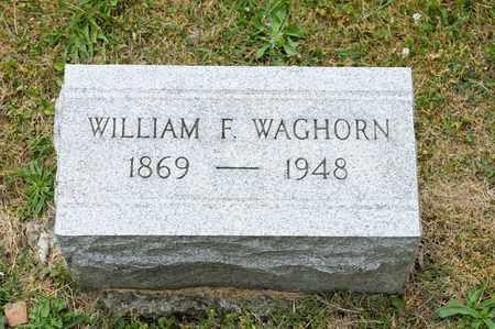 WAGHORN, WILLIAM F - Richland County, Ohio | WILLIAM F WAGHORN - Ohio Gravestone Photos