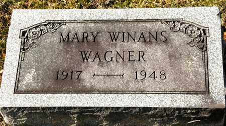 WINANS WAGNER, MARY - Richland County, Ohio | MARY WINANS WAGNER - Ohio Gravestone Photos