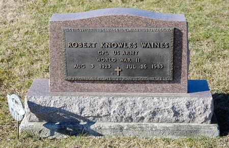 WAINES, ROBERT KNOWLES - Richland County, Ohio | ROBERT KNOWLES WAINES - Ohio Gravestone Photos