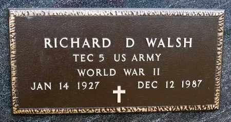 WALSH, RICHARD D - Richland County, Ohio   RICHARD D WALSH - Ohio Gravestone Photos