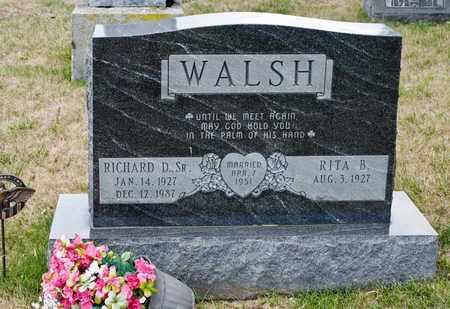 WALSH SR, RICHARD D - Richland County, Ohio | RICHARD D WALSH SR - Ohio Gravestone Photos