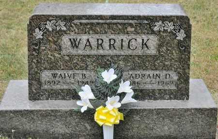 WARRICK, ADRAIN D - Richland County, Ohio | ADRAIN D WARRICK - Ohio Gravestone Photos