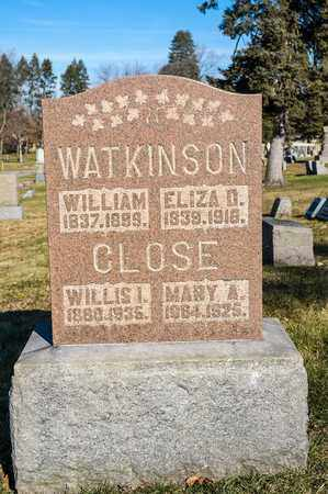 CLOSE, WILLIS I - Richland County, Ohio | WILLIS I CLOSE - Ohio Gravestone Photos