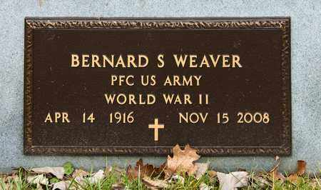 WEAVER, BERNARD S - Richland County, Ohio | BERNARD S WEAVER - Ohio Gravestone Photos