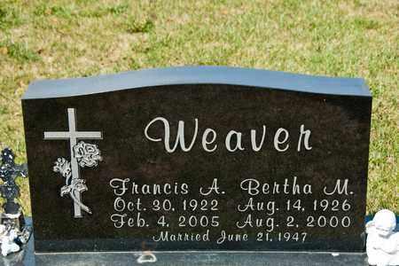 WEAVER, BERTHA M - Richland County, Ohio | BERTHA M WEAVER - Ohio Gravestone Photos