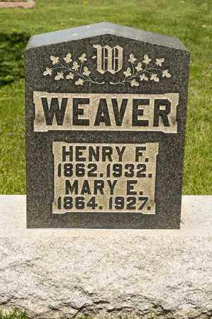 WEAVER, MARY E - Richland County, Ohio | MARY E WEAVER - Ohio Gravestone Photos