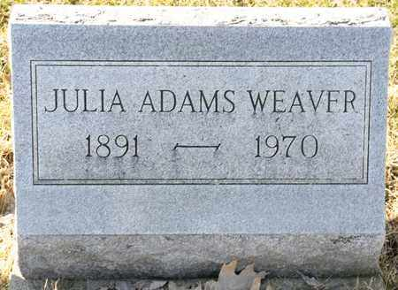 ADAMS WEAVER, JULIA - Richland County, Ohio | JULIA ADAMS WEAVER - Ohio Gravestone Photos