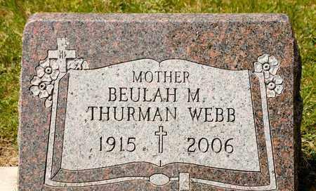 WEBB, BEULAH M - Richland County, Ohio   BEULAH M WEBB - Ohio Gravestone Photos