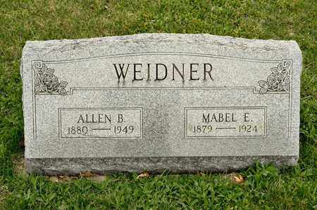 WEIDNER, MABEL E - Richland County, Ohio | MABEL E WEIDNER - Ohio Gravestone Photos