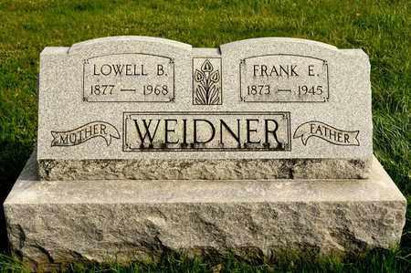 WEIDNER, FRANK E - Richland County, Ohio | FRANK E WEIDNER - Ohio Gravestone Photos