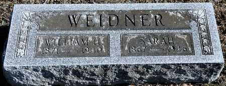 WEIDNER, SARAH - Richland County, Ohio | SARAH WEIDNER - Ohio Gravestone Photos