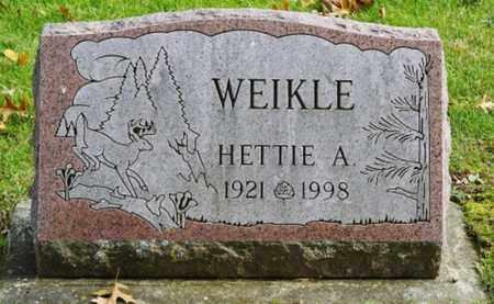 WEIKLE, HETTIE A. - Richland County, Ohio | HETTIE A. WEIKLE - Ohio Gravestone Photos