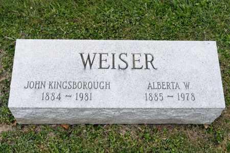 WEISER, JOHN KINGSBOROUGH - Richland County, Ohio | JOHN KINGSBOROUGH WEISER - Ohio Gravestone Photos