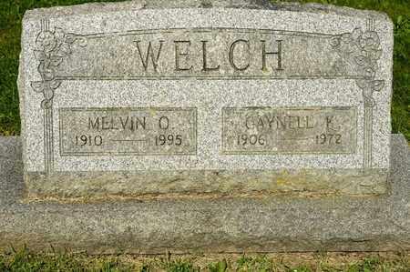 WELCH, MELVIN O - Richland County, Ohio   MELVIN O WELCH - Ohio Gravestone Photos