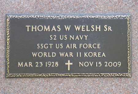 WELSH SR, THOMAS W - Richland County, Ohio | THOMAS W WELSH SR - Ohio Gravestone Photos