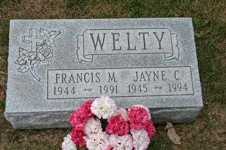 WELTY, FRANCIS M - Richland County, Ohio | FRANCIS M WELTY - Ohio Gravestone Photos