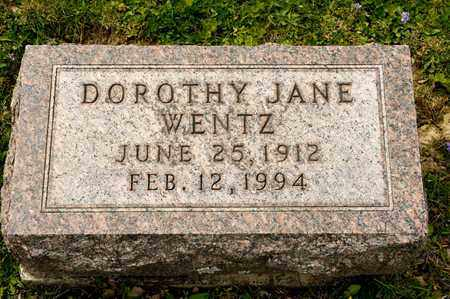WENTZ, DOROTHY JANE - Richland County, Ohio | DOROTHY JANE WENTZ - Ohio Gravestone Photos