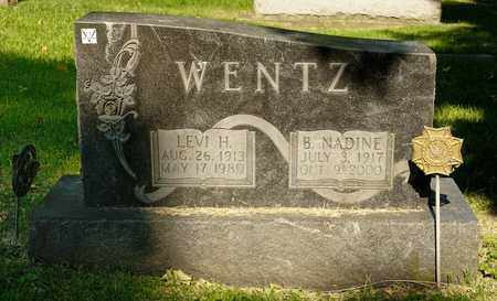 WENTZ, B NADINE - Richland County, Ohio | B NADINE WENTZ - Ohio Gravestone Photos
