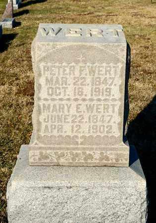 WERT, PETER F - Richland County, Ohio | PETER F WERT - Ohio Gravestone Photos